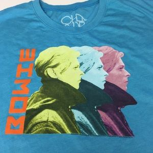 CHASER 'BOWIE' GRAPHIC T SHIRT TOP NWOT